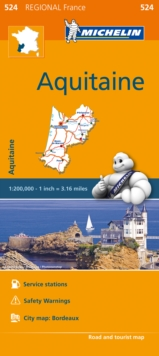 Aquitaine - Michelin Regional Map 524 : Map, Sheet map Book