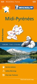 Midi-Pyrenees - Michelin Regional Map 525 : Map, Sheet map Book