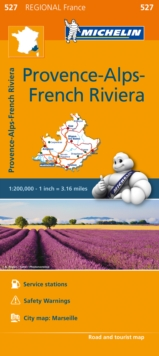 Provence French Riviera Map 527 : Michelin Regional Maps: France, Sheet map, folded Book