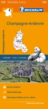 Champagne-Ardenne - Michelin Regional Map 515 : Map, Sheet map Book