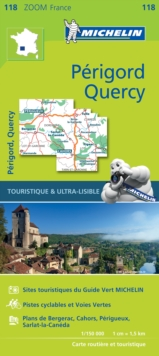 Quercy Perigord - Zoom Map 118 : Map, Sheet map Book