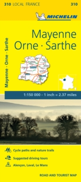 Mayenne, Orne, Sarthe - Michelin Local Map 310 : Map, Sheet map Book