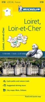 Loiret, Loir-et-Cher - Michelin Local Map 318 : Map, Sheet map Book