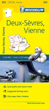 Deux-Sevres, Vienne - Michelin Local Map 322 : Map, Sheet map Book