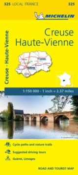Creuse, Haute-Vienne - Michelin Local Map 325 : Map, Sheet map Book