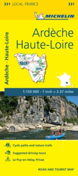 Ardeche, Haute-Loire - Michelin Local Map 331 : Map, Sheet map Book