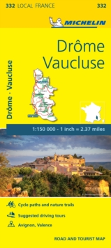 Drome, Vaucluse, France Local Map 332, Sheet map, folded Book