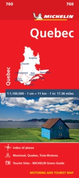 Quebec - Michelin National Map 0760 : Map, Sheet map Book