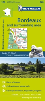 Bordeaux & surrounding areas - Zoom Map 126 : Map, Sheet map Book