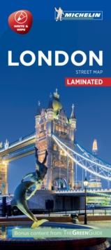London - Michelin City Map 9201 : Laminated City Plan, Sheet map Book