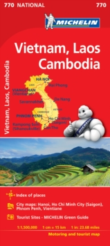 Vietnam Laos Cambodia - Michelin National Map 770 : Map, Sheet map Book