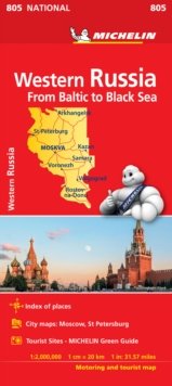 Western Russia - Michelin National Map 805 : Map, Sheet map Book