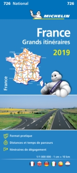 France Route Planning 2019 - Michelin National Map 726 : Map, Sheet map Book
