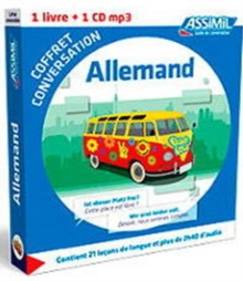 Coffret conversation allemand (guide +CD), Paperback / softback Book