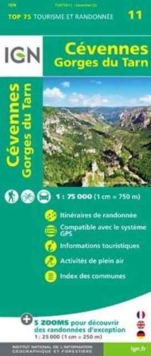 Cevennes / Gorges du Tarn : IGN.75011, Sheet map, folded Book