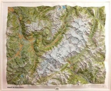 Massif Mont-Blanc Relief, Other cartographic Book