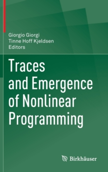Traces and Emergence of Nonlinear Programming, Hardback Book