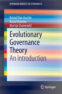 Evolutionary Governance Theory : An Introduction, Paperback / softback Book