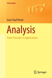 Analysis : From Concepts to Applications, Paperback / softback Book