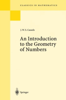 An Introduction to the Geometry of Numbers, Paperback / softback Book
