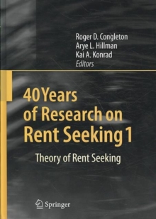 40 Years of Research on Rent Seeking, Book Book