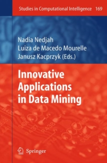 Innovative Applications in Data Mining, Hardback Book