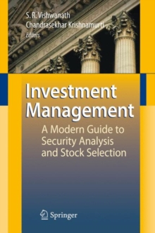 Investment Management : A Modern Guide to Security Analysis and Stock Selection, Hardback Book