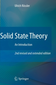 Solid State Theory : An Introduction, Hardback Book