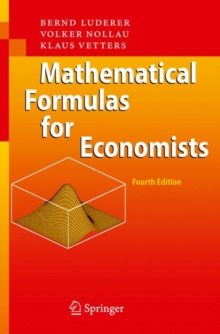 Mathematical Formulas for Economists, Paperback Book