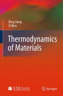 Thermodynamics of Materials, Hardback Book