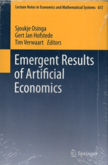 Emergent Results of Artificial Economics, Paperback Book