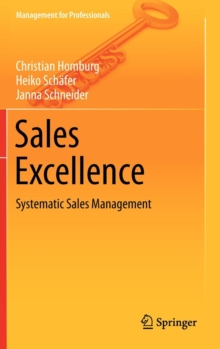 Sales Excellence : Systematic Sales Management, Hardback Book