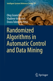Randomized Algorithms in Automatic Control and Data Mining, Hardback Book