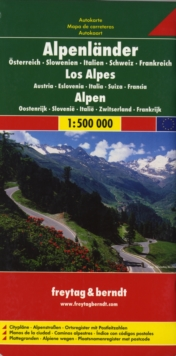 Alps, Sheet map, folded Book