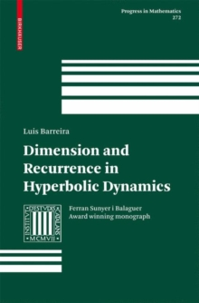 Dimension and Recurrence in Hyperbolic Dynamics, Hardback Book