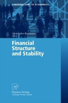 Financial Structure and Stability, Paperback / softback Book