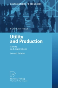 Utility and Production : Theory and Applications, Paperback / softback Book