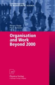 Organisation and Work Beyond 2000, Paperback / softback Book
