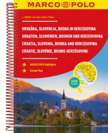 Croatia, Slovenia, Bosnia and Hercegovina Marco Polo Road Atlas, Paperback / softback Book