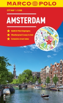 Amsterdam Marco Polo City Map, Paperback / softback Book