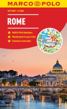 Rome Marco Polo City Map - pocket size, easy fold, Rome street map, Paperback / softback Book