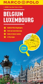 Belgium and Luxembourg Marco Polo Map, Sheet map, folded Book