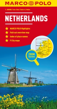 Netherlands Marco Polo Map, Sheet map, folded Book