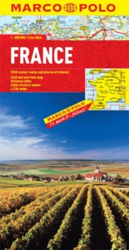 France Marco Polo Map, Sheet map, folded Book