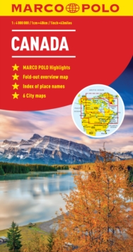 Canada Marco Polo Map, Sheet map, folded Book
