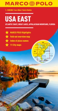USA East Marco Polo Map, Sheet map, folded Book