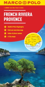 French Riviera, Provence Marco Polo Map, Sheet map, folded Book