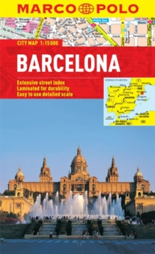 Barcelona City Map, Sheet map, folded Book