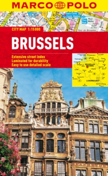 Brussels Marco Polo City Map, Sheet map, folded Book