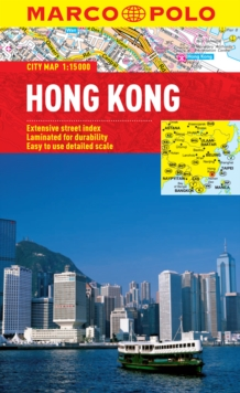 Hong Kong City Map, Sheet map, folded Book